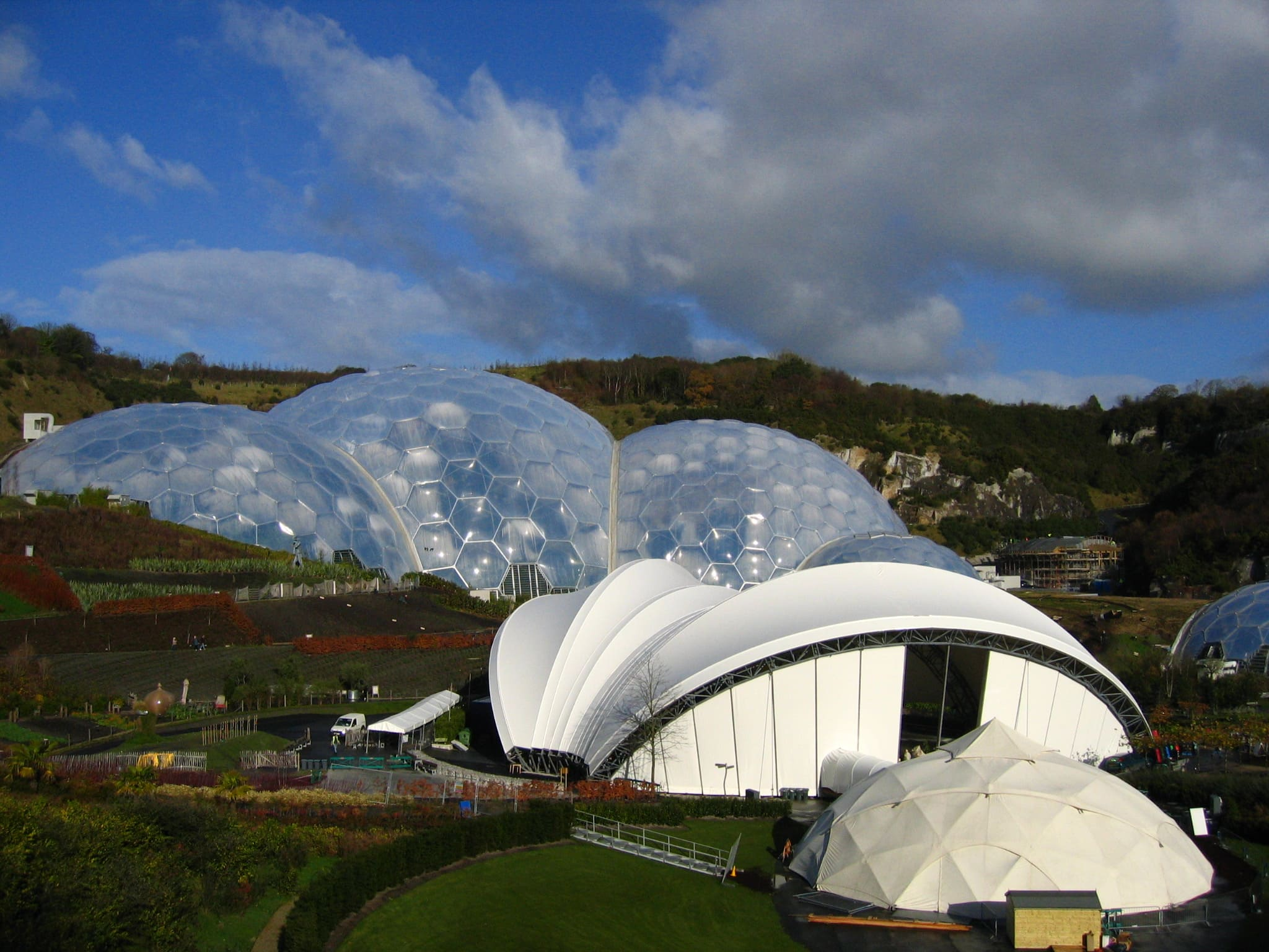 Eden Project Ice Rink Structure