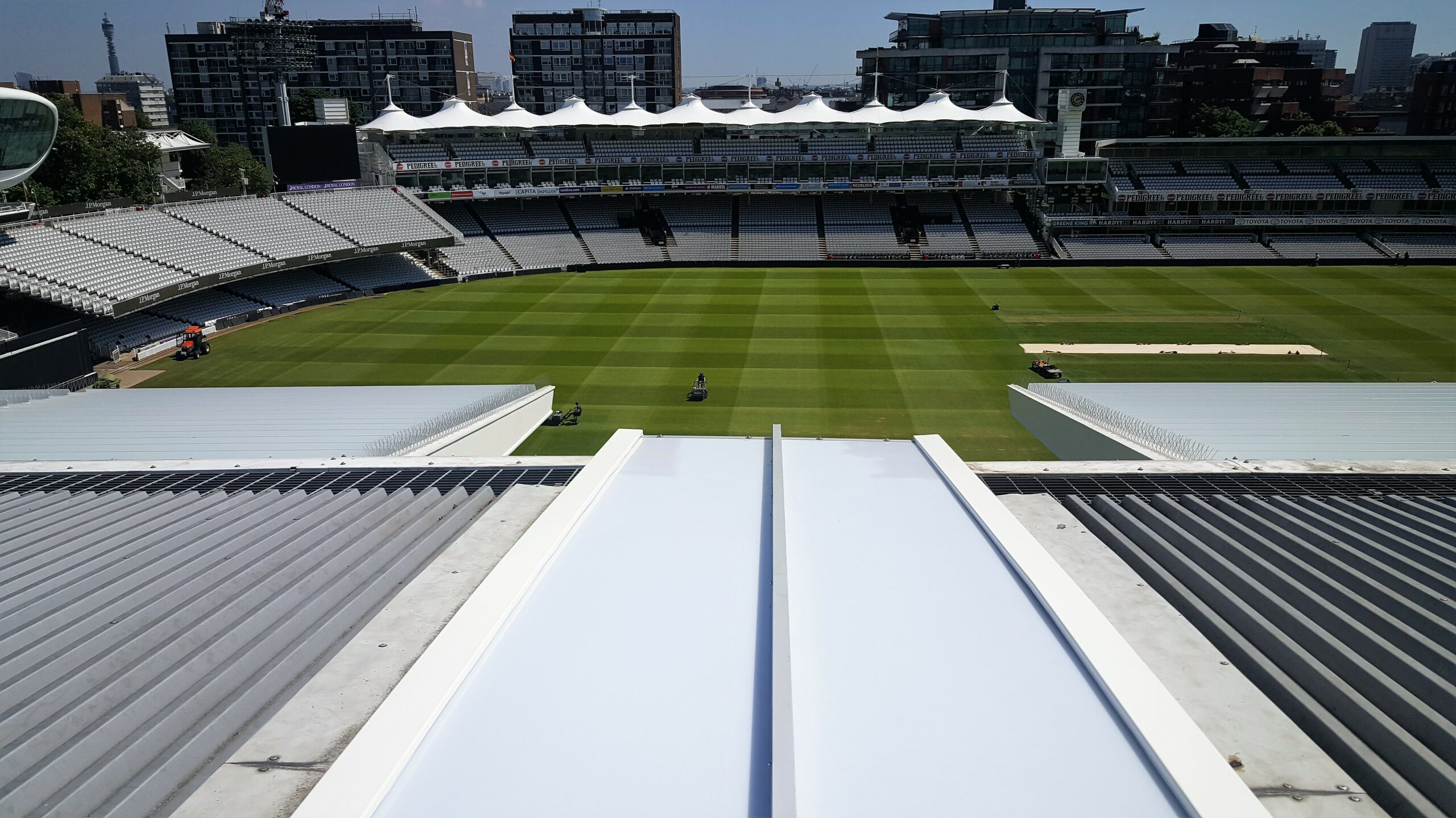 Lords Grandstand Roof Lights