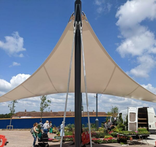 Improving socialising with outdoor canopies